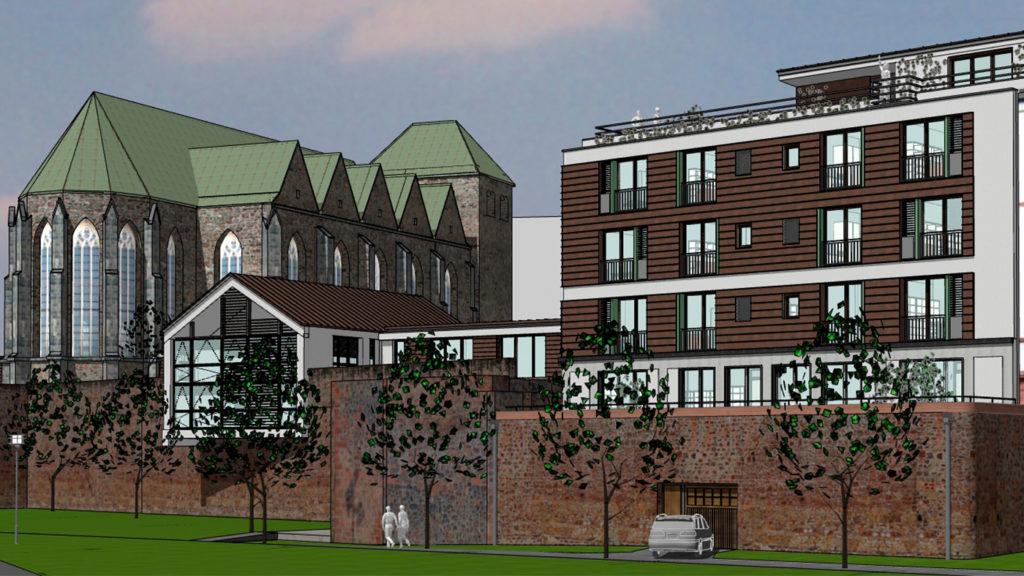 Im Bild der geplante Klosterneubau in Magdeburg